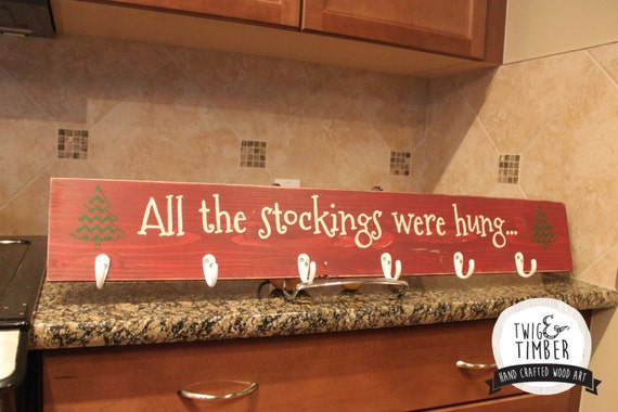 SALE! Stocking Hanger - Custom Colors - Can add Names!