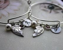 mother daughter bracelet, mother daughter jewelry, mother daughter set, mother daughter bangle set, mother daughter bracelet set