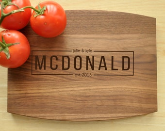 Personalized Cutting Board, Engraved, Custom Cutting Board, Personalized Wedding Gift, Housewarming Gift, Anniversary Gift, Monogram