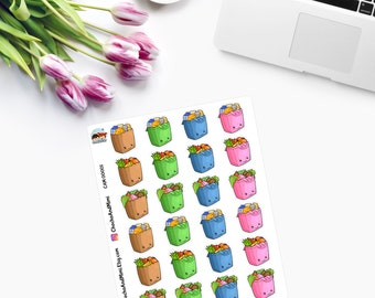 ITTY BITTY Grocery Bag Planner Stickers  - CAM00001