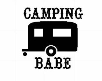 Car Decal - Camping - Camping Decal - Car Decal - Yeti Decal