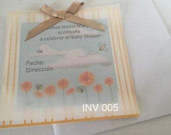 Invitacion Baby Shower Niño o Niña