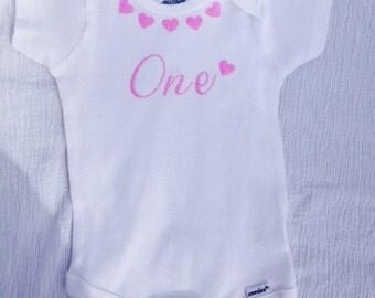 1 Month Onesie, Monthly Onesie, Unique baby onesies, Baby Shirt, Baby Onesie, Glitter 1 Month Onesie, Pink Glitter Onesie, Photo Prop