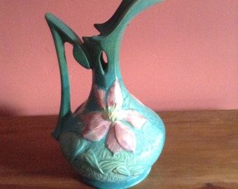 Roseville Pottery Clematis Ewer