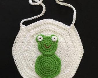 Crochet Frog Bib, Frog Baby Bib, Frog Bib, Crochet Baby Bib