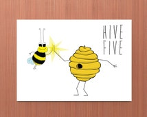 Hive Five Bee Card WITH SEEDS for Bee & You