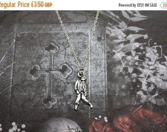 ON SALE Zombie Necklace, Halloween Necklace, Undead Necklace, Halloween Gift, Gothic Gift, Zombie Jewelry, Gothic Necklace, Walking Dead Gif