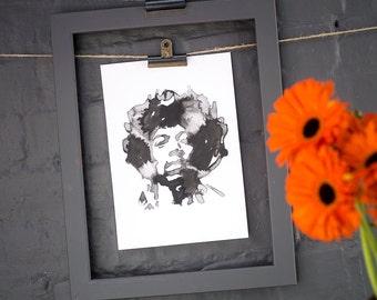 Jimi Hendrix Inkling print