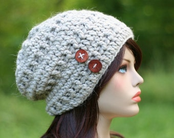 """Sale! PDF Crochet PATTERN for beginners - Super Bulky Slouchy Beanie. Adult size (head circ. 22""""- 23"""") Written in US terms."""