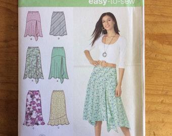 Simplicity 2816, Size H5, Bias Skirts, Sewing Pattern