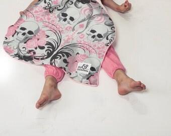Pink Tattoo Baby Blanket