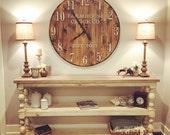 Farmhouse Clock Co. Extra Large Round wall clock