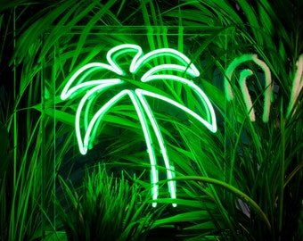 Palm Tree neon light - Freestanding neon sign