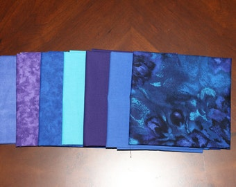 RJR by Jinny Beyer, South Sea Imports and Wilmington Print's fat quarter combination, a 7 piece bundle.
