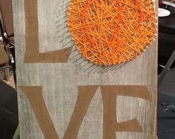 Love Pumpkin String Art Sign