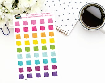 Planner Stickers | Shopping Bag Stickers in Rainbow Colors| Shopping Spree Stickers|For use in a variety of planners and journals|D041