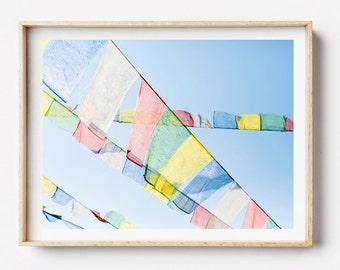Nepal Photo Print - Prayer Flags, Nepal, Photographic  Art, Wall Art, Framed Photography Print, Photographic Print, Nepal, Art Photography