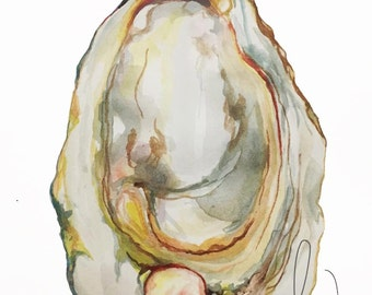 9x12 Watercolor Oysters