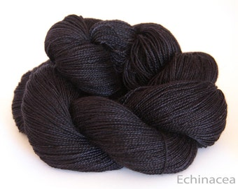 Swiss spun silk and Royal Alpaca, luxury lace weight yarn, Dreams of a Starry Night, Hand dyed, 100gms