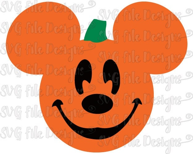Halloween Mickey Mouse Pumpkin Jack-o-lantern By
