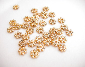 8mm Flower Gold Filled Space, GF5402