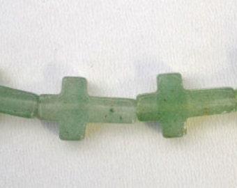 Jade Gemstone Beads 11x16mm Jade Cross Stone Beads, Jewelry Making,