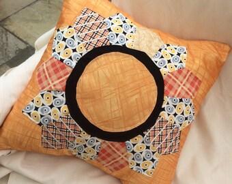 Dresden Plate cushion