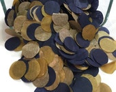 Navy & Gold confetti, Tissue Paper Confetti, Wedding decor, Party confetti, confetti circles, confetti table scatter, save the date, bridal