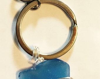 Sea glass keychain