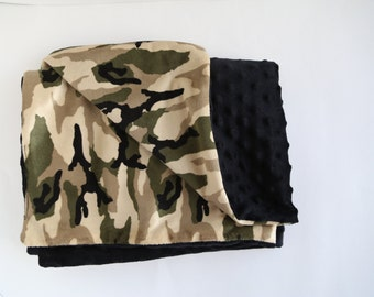 Camo Print Minky Blanket