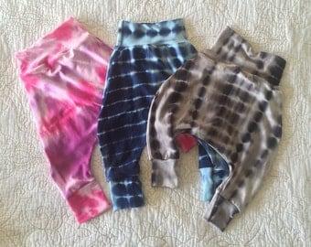 Tie dye, baby boy, baby girl, toddler, kids, harem pants, leggings, pants