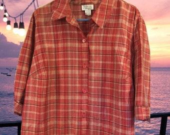 Plus sz  20W silk blouse    Washable silk...Free Shipping