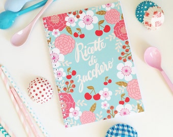 Recipes Journal, Kitchen Notebook,  Made in Italy