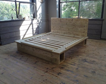 Rustic reclaimed King Sized or SuperKing Size Platform bed