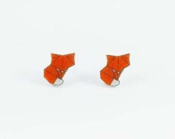 Origami Fox earrings