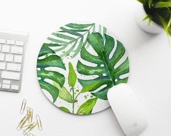 Mousepad, Tropical Leaves