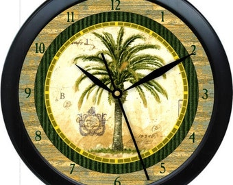 "PalmTree Personalized 10"" Kitchen Wall Clock"
