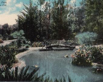 Redlands, California Vintage Postcard - Prospect Park Natural Park, Ducks, Picnic Area