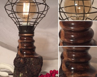 Walnut Edison/Tesla Lamp