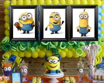 Minions Bedroom/Birthday party picture frames decor (11x14)