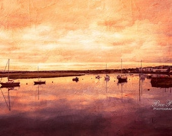 Boats on The harbour, home decor photography print wall art, office wall art, restaurant art