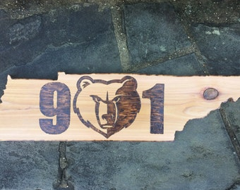 901 Memphis Grizzlies Themed Tennessee Cutout