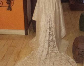 wedding dress with train