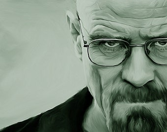 Breaking Bad, Heisenberg, Charcoal Canvas Print