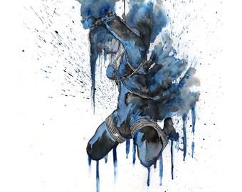 Shibari Blue R.M. 8x10 Print