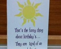 Disney Tangled inspired birthday greeting card
