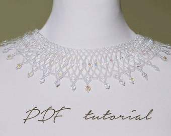 Beaded Necklace/Beading Tutorials And Patterns/Statement Necklace/Beaded Necklace Pattern/Necklace Pattern/Necklace Tutorial/Beaded Jewelry