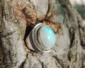 Ring in Silver 925 and Moonstone