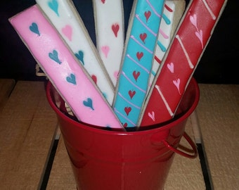 Valentine's Heart Cookie Sticks in a Coffee Mug - Half Dozen