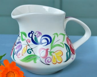 Hand painted Poole Pottery Jug 1960s or 70s